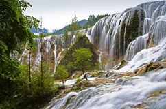 Jiuzhaigou waterfall Stock Photo