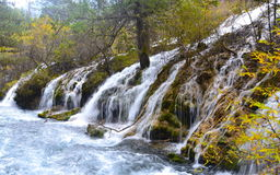 Jiuzhaigou waterfall royalty free stock photo