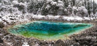 jiuzhaigou wucai stawowy dolinny Zdjęcia Royalty Free