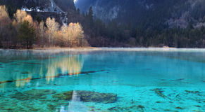 Jiuzhaigou wuhuahai winter Stock Photography