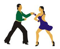Jive. Man and woman dancing Jive Stock Photography