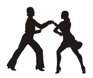 Jive. Man and woman dancing Jive Stock Image