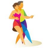 jive l'homme et la femme participent à une concurrence de danse Photographie stock