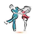 Jive le coppie di dancing Fotografia Stock