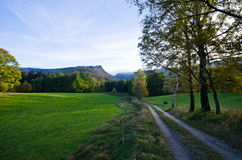 Jizera berg, Tjeckien Royaltyfria Bilder