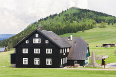 Jizerka, Jizerske-Berge Stockfotografie