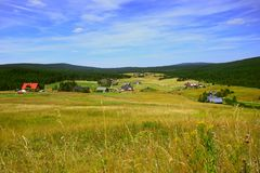 Free Jizerka Valley And Old Village In The Jizera Mountains Royalty Free Stock Photography - 124274577