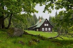 Jizerske hory, Czech republic. Marianskohorske Boudy in  Jizerske hory, Northern Bohemia, Czech republic Stock Photos