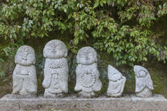 Jizo雕塑 免版税库存图片