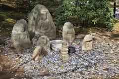 Jizo雕象在京都 免版税图库摄影