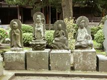 Jizo. Guardian stone figures at a shrine Stock Images