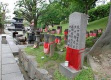Jizo bei drei sagenumwobene Pagode, Nara Stockfotografie
