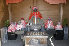 Jizo Bodhisattva, Owakudani, Japan Royalty Free Stock Photos