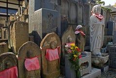 Jizo Bodhisattvas, Fukushima, Japan Stock Images