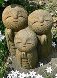 Jizo in garden Royalty Free Stock Photos
