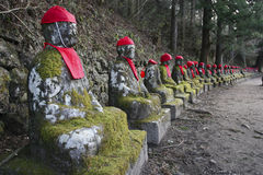 Jizo i Nikko Japan Arkivbild