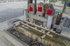 Jizo Przy Sanjuusangendo świątynią Przy Kyoto Japonia fotografia royalty free