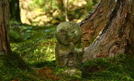 Jizo statue in a buddhist temple stock photo