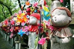 Jizo Statuen Lizenzfreies Stockfoto