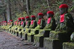 Jizo Statuen in Nikko Lizenzfreies Stockbild