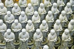 Jizo Statues at Hase Dera Temple Stock Photography