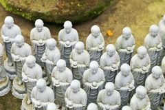 Jizo Statues at Hase Dera Temple Stock Photos