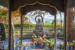 Jizo Statues at Hase-dera Temple in kamakura Stock Images