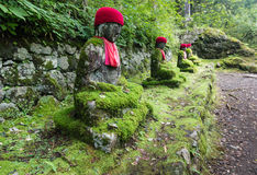 Jizo statues in Kanmangafuchi abyss Stock Images