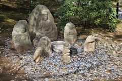 Jizo statues in Kyoto Royalty Free Stock Photography