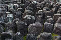 Jizo statues in Kyoto. Buddhist Jizo statues in Daitoku-ji temple in Kyoto, Japan Stock Photography