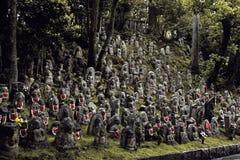 Jizo statues in Kyoto, Japan royalty free stock photography