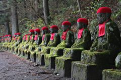 Jizo Statues in Nikko Royalty Free Stock Image