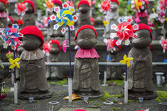 Jizo statues at Shiba park in Tokyo. Jizo statues of unborn children at Shiba park in Tokyo Royalty Free Stock Image