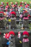 Jizo statues at Shiba park in Tokyo. Jizo statues of unborn children at Shiba park in Tokyo Royalty Free Stock Photo