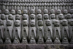 Jizo statuettes at Hase Kannon Temple. Japan Stock Photography
