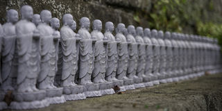 Jizo statuettes at Hase Kannon Temple Stock Photo