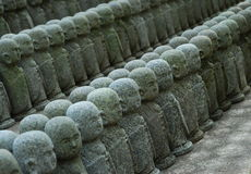 Jizo statyer Arkivfoto