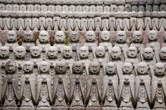 Jizo stone statues, Kamakura, Japan Royalty Free Stock Photos