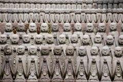 Jizo stone statues, Kamakura, Japan. With detail Royalty Free Stock Photos