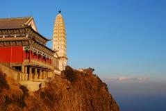 Jizu山在中国 免版税库存照片