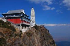 Jizu berg i Kina Royaltyfria Bilder