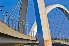 The JK Bridge in Brasilia royalty free stock image