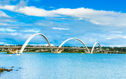 JK Bridge in Brasilia, Brazil Royalty Free Stock Images