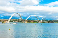 JK Bridge in Brasilia, Brazil.  Royalty Free Stock Photography