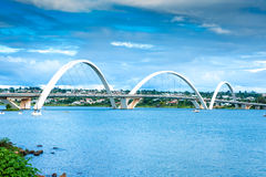 JK Bridge in Brasilia, Brazil.  Stock Image