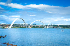 JK Bridge in Brasilia, Brazil Royalty Free Stock Image