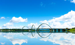 JK Bridge in Brasilia, Brazil.  Royalty Free Stock Photo