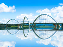JK Bridge in Brasilia, Brazil.  Stock Images