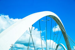 JK Bridge in Brasilia, Brazil, South America Royalty Free Stock Image