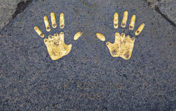 JK Rowling Hand Print at the City Chambers in Edinburgh Stock Photography